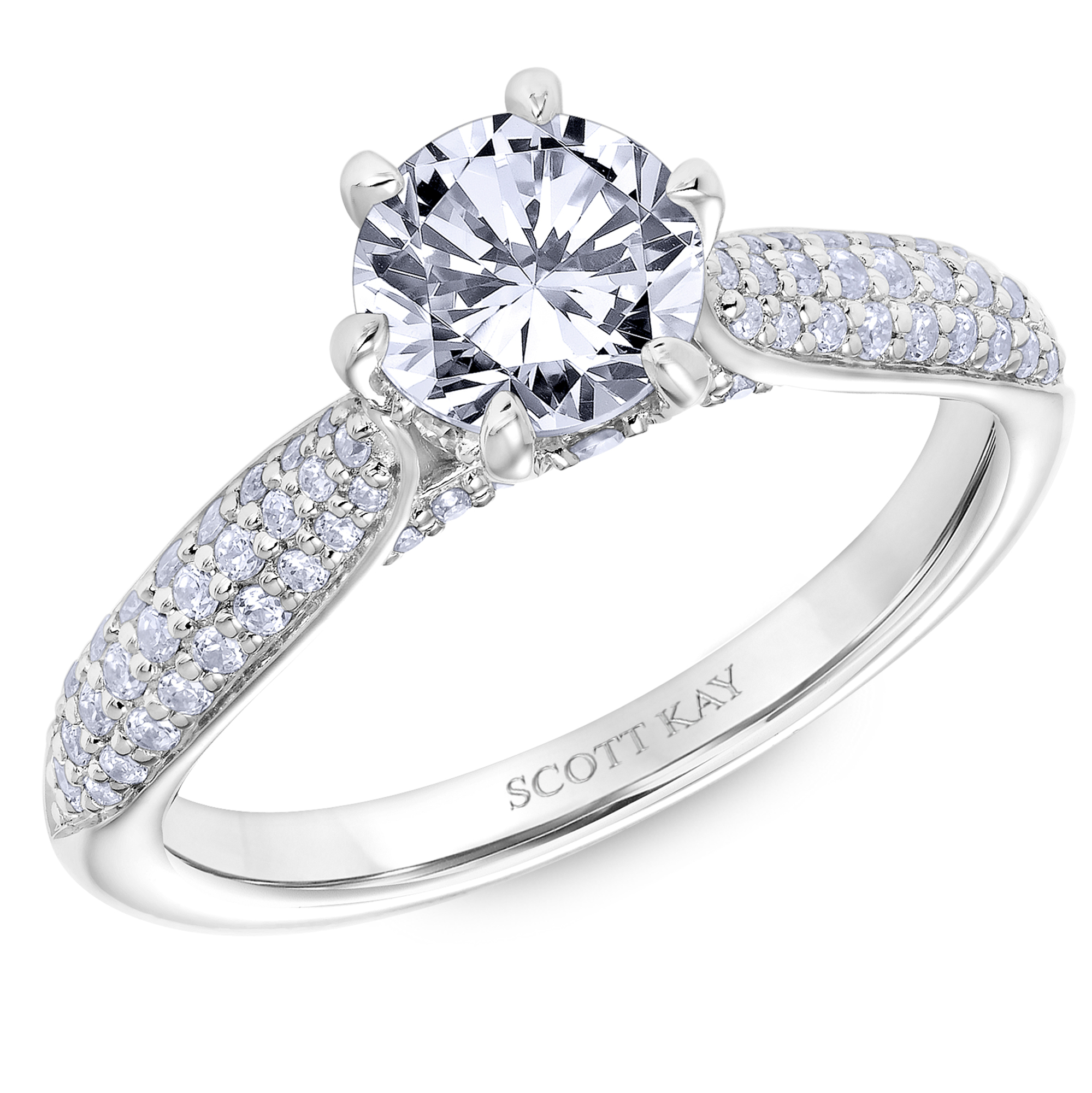 wedding engagement rings scott kay of best gold solitaire bands diamond ring platinum h new center